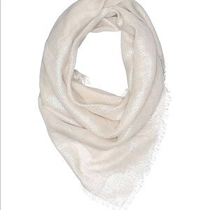 CHANEL Beige/Metallic Scarf